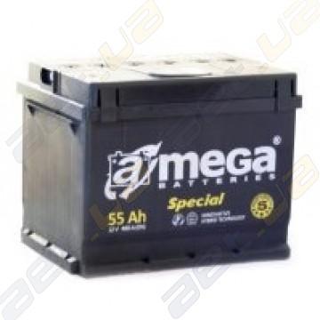 Автомобильный аккумулятор A-Mega Special 55Ah R+ 480A