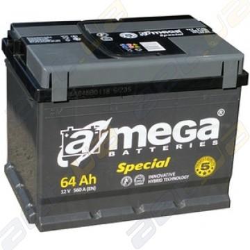 Автомобильный аккумулятор A-Mega Special 64Ah R+ 560A
