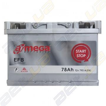 Aкумулятор A-Mega EFB 78Ah R+ 790A