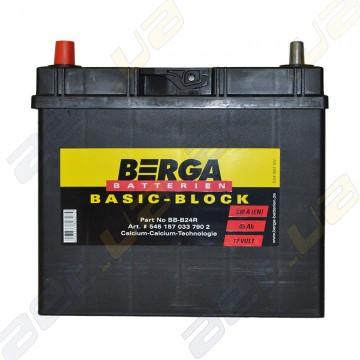Автомобильный аккумулятор Berga Basic 45Ah JL+ 330A (тонкая клемма)
