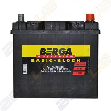 Аккумулятор Berga Basic 60Ah JR+ 510A (EN)