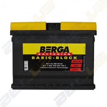 Аккумулятор Berga Basic 60Ah R+ 540A (EN)