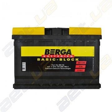 Аккумулятор Berga Basic 74Ah R+ 680A (EN)