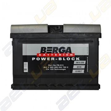 Аккумулятор Berga Power 60Ah R+ 540A (EN) (низкобазовый)