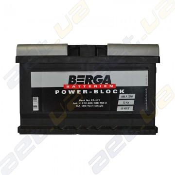 Аккумулятор Berga Power 72Ah R+ 680A (EN) (низкобазовый)