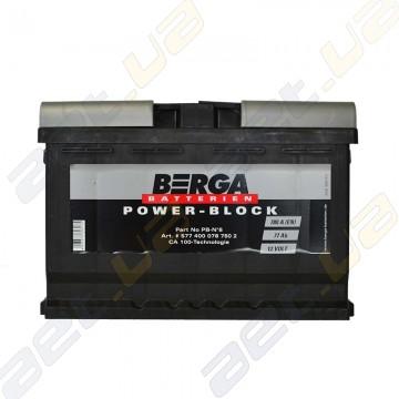 Автомобильный аккумулятор Berga Power 77Ah R+ 780A (EN)