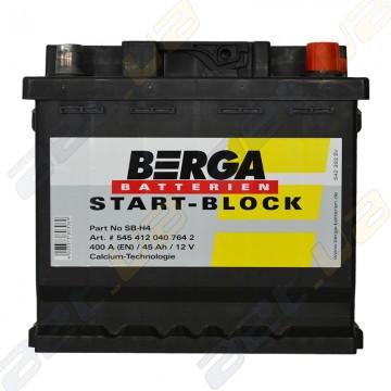Аккумулятор Berga Start 45Ah R+ 400A