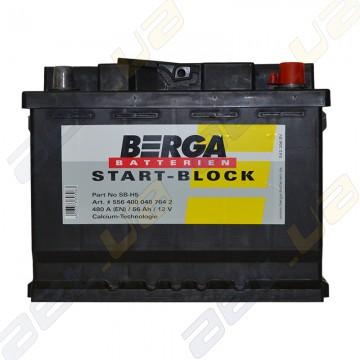 Аккумулятор Berga Start 56Ah R+ 480A (EN)