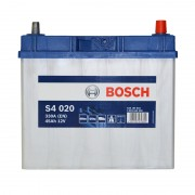 Bosch S4 020 45Ah JR+ 330A (тонкая клемма)