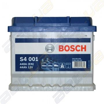 Аккумулятор Bosch S4 44Ah R+ 440A (EN) (низкобазовый)