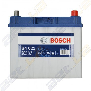 Аккумулятор Bosch S4 Silver 45Ah JR+ 330A (EN)