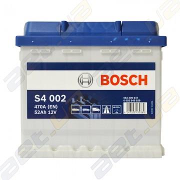 Аккумулятор Bosch S4 Silver 52Ah R+ 470A (EN)