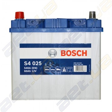 Аккумулятор Bosch S4 Silver 60Ah JL+ 540A (EN)
