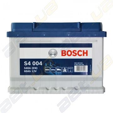 Аккумулятор Bosch S4 60Ah R+ 540A (EN) (низкобазовый)