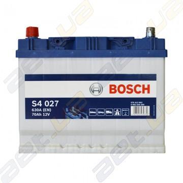 Аккумулятор Bosch S4 Silver 70Ah JL+ 630A (EN)