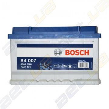 Аккумулятор Bosch S4 Silver 72Ah R+ 680A (EN) (низкобазовый)