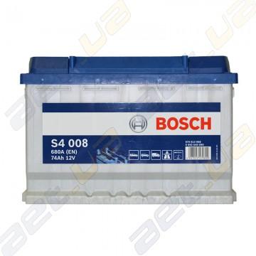 Аккумулятор Bosch S4 Silver 74Ah R+ 680A (EN)