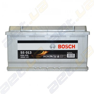 Аккумулятор Bosch S5 Silver Plus 100Ah R+ 830 A (EN)