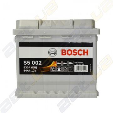 Аккумулятор Bosch S5 Silver Plus 54Ah R+ 530A (En)