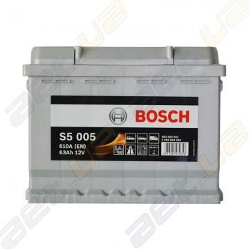 Аккумулятор Bosch S5 Silver Plus 63Ah R+ 610 A (EN)