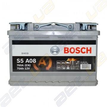 Аккумулятор Bosch S5 AGM 70Ah R+ 760A (EN)