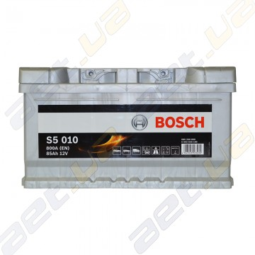 Аккумулятор Bosch S5 Silver Plus 85Ah R+ 800 A (EN) (низкобазовый)