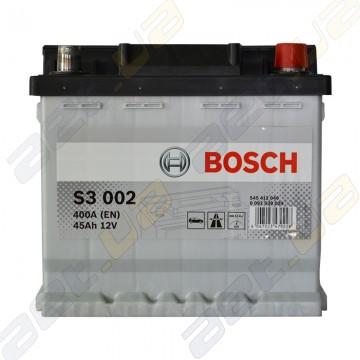 Аккумулятор Bosch S3 45Ah R+ 400A (EN)