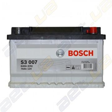 Аккумулятор Bosch S3 70Ah R+ 640A (EN) (низкобазовый)