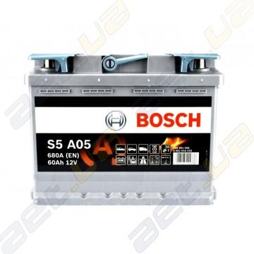 Аккумулятор Bosch S5 AGM 60Ah R+ 680A