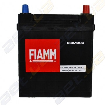 Аккумулятор Fiamm Diamond 35Ah JR+300A (тонкая клемма)