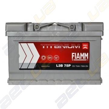 Аккумулятор автомобильный Fiamm Titanium Pro 75Ah R+ 730A (низькобазовий)
