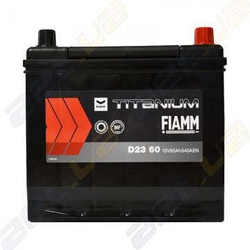 Аккумулятор Fiamm Titanium Black 60Ah JR+ 540A (EN)