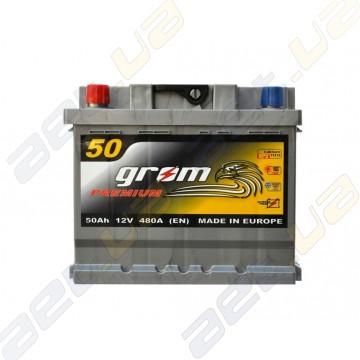Аккумулятор Grom Premium 50Ah L+ 480A (низкобазовый)