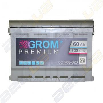 Аккумулятор Grom 60Ah L+ 620A (низкобазовый)