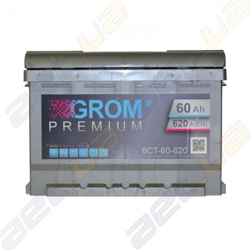 Аккумулятор Grom 60Ah R+ 620A (низкобазовый)