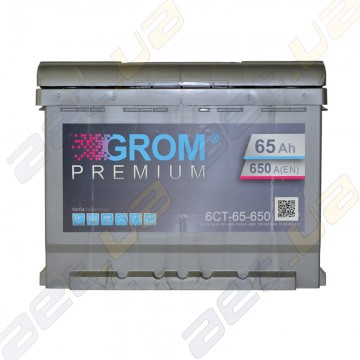 Аккумулятор Grom 65Ah R+ 650A