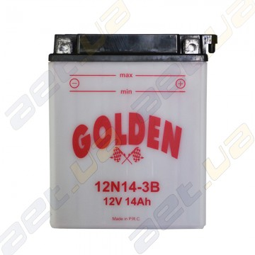 Мото аккумулятор Golden 12N14-3B 12v 14Ah R+