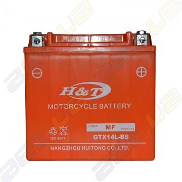 Мото аккумулятор H&T GTX14L-BS 12v 14Ah R+