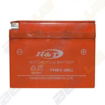 Мото аккумулятор H&T YT4B-5 12v 2.3Ah R+