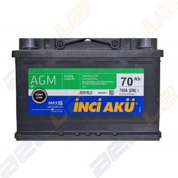 Аккумулятор INCI-AKU AGM 70Ah R+ 760A