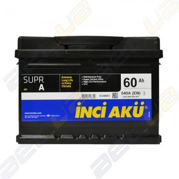 Аккумулятор INCI-AKU Supr A 60Ah R+ 540A (низкобазовый)