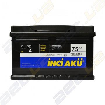 Акумулятор автомобільний INCI-AKU Supr A 75Ah R+ 700A (низькобазовий)