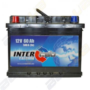 Аккумулятор InterTab 60Ah L+ 540A
