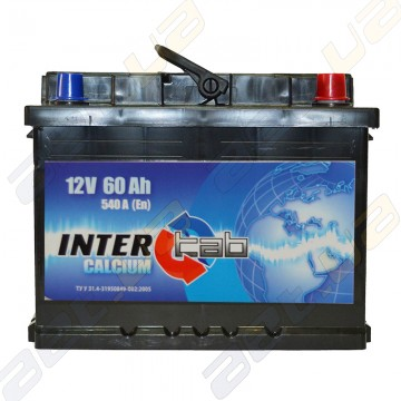Аккумулятор InterTab 60Ah R+ 540A
