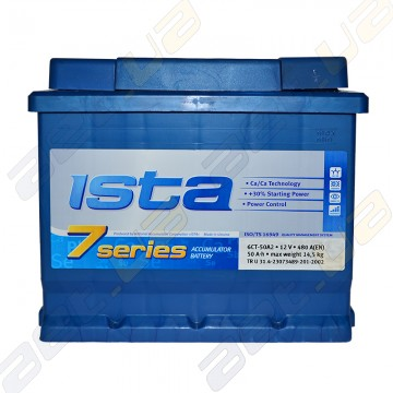 Аккумулятор автомобильный Ista 7 series 52Ah R+ 510A (EN) (низкобазовый)