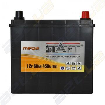 Аккумулятор Mega Start 60Ah JR+ 450A