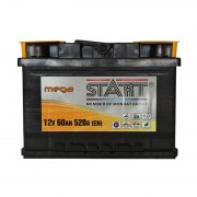 Mega Start 60Ah R+ 520A (низкобазовый)