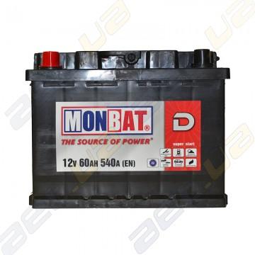Аккумулятор Monbat D 60Ah R+ 540A