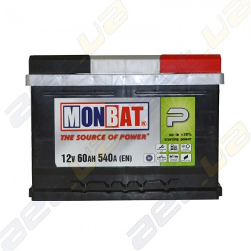 Аккумулятор Monbat P 60Ah R+ 540A