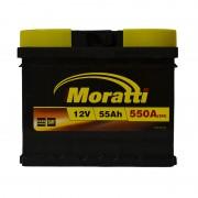 Moratti 55Ah R+ 550A (низкобазовый)